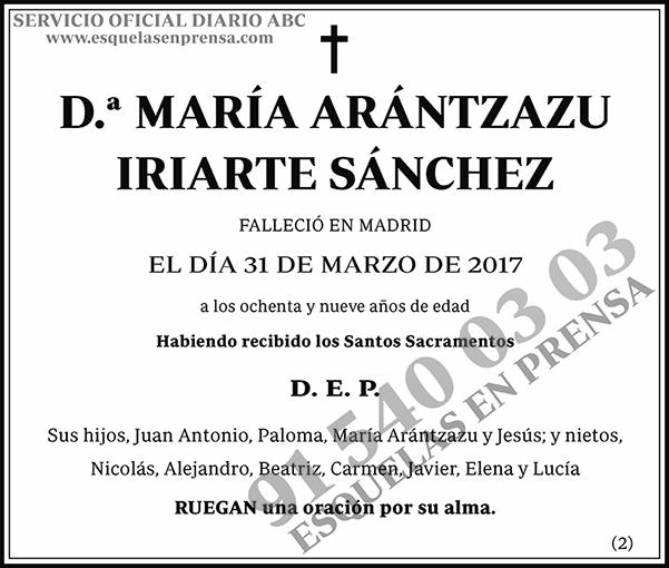 María Arántzazu Iriarte Sánchez